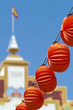 Chinese lanterns. Of the fair of sevilla Stock Photo