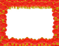 Chinese lanterns background. Chinese lanterns (paper lamps) greeting card decoration background as symbol of Chinese New Year and traditional festival Royalty Free Stock Images