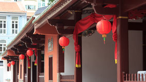 Chinese lanterns in buddhistic temple in chinatown, Singapore Stock Image