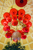 Chinese lanterns chandelier Royalty Free Stock Photos