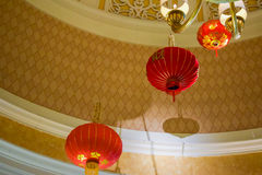 Chinese lanterns chandelier Stock Images
