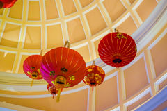 Chinese lanterns chandelier Royalty Free Stock Photo