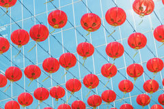 Chinese lanterns in china town Stock Photo