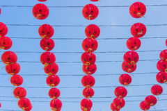 Chinese lanterns in china town Stock Images