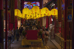 Chinese lanterns in China town Stock Photos