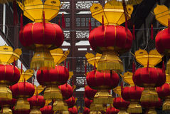 Chinese lanterns at the Chinese New Year. Red Chinese lanterns at the Chinese New Year in Shanghai Royalty Free Stock Photography