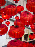 Chinese Lanterns, Chinese New Year. Chinese lanterns during new year festival.Festive chinese red lantern decorations Royalty Free Stock Images