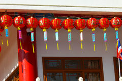 Chinese lanterns in chinese new years day. Royalty Free Stock Photo