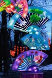 Chinese lanterns fan stock photos