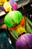 Chinese Lanterns. Colourful Chinese Lanterns of China Town Stock Photo
