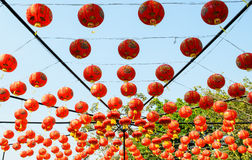 Chinese Lanterns. Display of Chinese lanterns for Asian festivals Stock Image