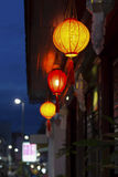 Chinese lanterns in downtown Royalty Free Stock Image