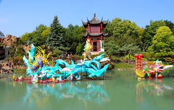 Chinese Lanterns. Festival in Montreal Botanical Garden Royalty Free Stock Images