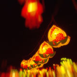 Chinese lanterns In festive night Royalty Free Stock Photos