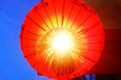 Chinese lanterns. Hang from the ceilings of the main entrance hall Stock Photos