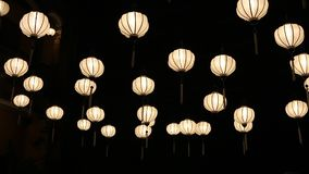 Chinese lanterns in Hoi An town, Vietnam stock footage