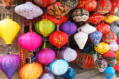 Chinese lanterns in hoi-an,vietnam. Shops selling chinese lanterns in hoi-an,vietnam. Photo taken on: January 10th, 2017 stock image