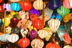 Chinese lanterns in hoi-an,vietnam Stock Photo