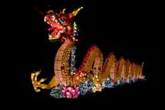 Chinese Lanterns lit Stock Photo