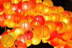 Chinese lanterns. In Mid-autumn festival Royalty Free Stock Images