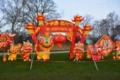 chinese lanterns new year στοκ εικόνα
