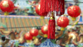 Chinese lanterns in new year day stock footage