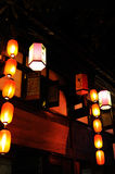 Chinese lanterns at night Stock Image