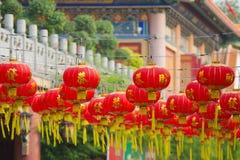 Chinese Lanterns. Red Chinese lanterns hanging from Thailand Royalty Free Stock Photo