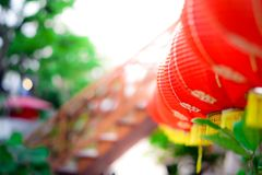 Chinese lanterns. Select focus, Close up, Flare stock image