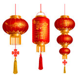 Chinese lanterns set Stock Image