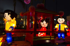 Chinese lanterns showing wedding scene royalty free stock images