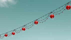 Chinese lanterns in the sky Stock Photos