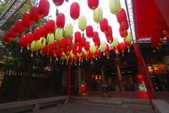 Chinese lanterns in temple Royalty Free Stock Photos