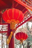 Chinese lanterns. Chinese traditional Design, golden and red decoration. stock images