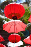 Chinese lanterns and umbrellas, Mauritius Stock Photography