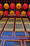 Chinese lanterns and windows Stock Image
