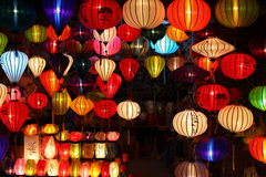 Chinese Lanterns With Lights As New Year Decoratio Royalty Free Stock Photography