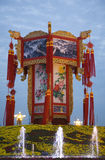 Chinese LanternTiananmen Square Beijing. Large Chinese Lantern Decoration Tiananmen Square, Beijing, China. Decoration is for October 1st Holiday royalty free stock photo