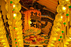 Chinese latern in Tow Boo Kong Temple Butterworth Royalty-vrije Stock Fotografie