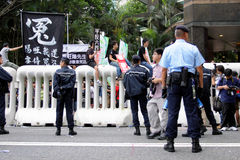 Chinese Leaders Visit Sparks Protests in H.K. Stock Photo