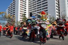Chinese leeuw tijdens 117ste Gouden Dragon Parade Stock Afbeelding