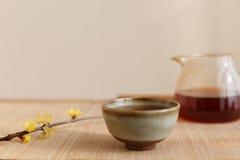 Chinese Li Drinking Tea Scene
