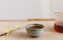 Chinese li drinking tea scene Royalty Free Stock Photography