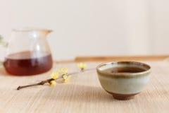 Chinese li drinking tea scene Stock Image