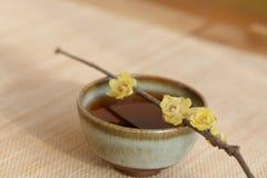 Chinese li drinking tea scene Stock Photos