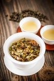 Chinese lidded bowl Royalty Free Stock Image