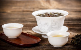 Chinese lidded bowl Royalty Free Stock Images