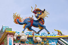 Chinese lion. In Chinese Temple royalty free stock photography