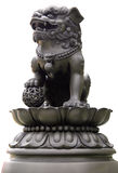 Chinese Lion. A Chinese Lion statue in Temple royalty free stock image