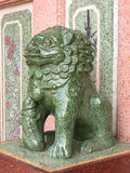 Chinese lion art statue is symbol in temple Royalty Free Stock Photos